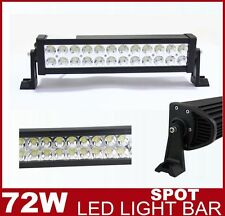 14'' 72W LED Work Light Bar SPOT Beam 12/24V Offroad 4WD Boat ATV Car Camping
