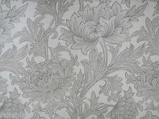 "WILLIAM MORRIS CURTAIN FABRIC  ""Chrysanthemum Toile"" 2.4 METRES SISAL/CANVAS"