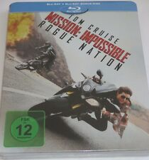 Mission Impossible 5 - Rogue Nation - 2 Blu-ray/NEU/OVP/Tom Cruise/Steelbook