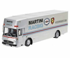 1:18 Schuco Mercedes-Benz o317 Renntransporter PORSCHE MARTINI RACING