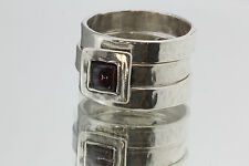 Silpada Hammered Garnet 3 Ring Set R0949 Size 6.5
