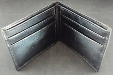 Men's Credit Card Wallet CASE LOT of 12 pcs. ~ Black Genuine Split Leather NEW