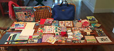 Bag of Scrapbooking Kit Stickers Embellishments Stamps Paper Travel HUGE LOT