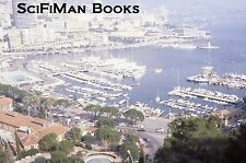 EKTACHROME 35mm Slide Monaco? French Riviera View Ships Boats Cars Harbor 1970s!
