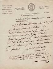 Général CARRA St-CYR autographe 1796