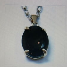 FINE 9CT YELLOW GOLD OVAL CUT SMOKEY TOPAZ PENDANT  In Gift Box