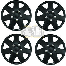 "Toyota Avensis 15"" Stylish Black Tempest Wheel Cover Hub Caps x4"