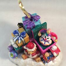 Christopher Radko Christmas Table Ornament Santa Claus Jack-In-The-Box Toys Gift