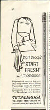 1956 vintage AD Dixon TICONDEROGA Pencils Graphite Neat Cartoon leadfast 090616)