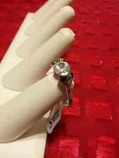 Christmas Special 1 CARAT CUBIC ZIRCONIA & HEARTS  RING  SIZE 6 3/4