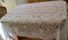 Heritage Lace Ivory Rectangular Polyster Tablecolth Elegant Design 60 x 84 (491)