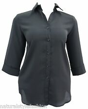 Ladies new plus size 16 - 34 shirt blouse 3/4 sleeve many colours Womens