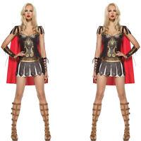 Roman Centurian Gladiator Costume woman warrior costume lady xena fancy dress