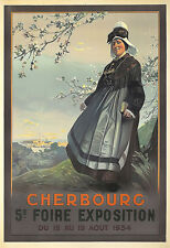 Art Ad Cherbourg  1934  Expo   Deco  Travel   Poster Print
