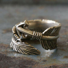 Mexican Biker Ring Skull sterling silver man feather Eagles arrow Chief Head