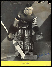 1939 IMPERIAL OIL HOCKEY PHOTO WILF CUDE & MAPLE LEAFS STANLEY CUP IN THE MAKING