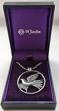 Flying Dove Pendant - St. Justin (PN881)