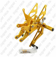 Adjustable CNC Rearsets Footpegs Pedals Footrests For Yamaha YZF R1 04-2006 Gold