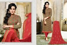 Elegant Designer Cotton Jacquard Suit Salwar Kameez Dress Material Unstitched