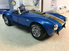 1/24 Franklin Mint Blue Gold 1966 Signed Autographed Shelby Cobra 427 SC B11F070