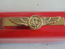 USN US NAVY SEAL SAILOR SEABEE AIRMAN AVIATION AIRCREW GOLD TIEBAR TIE CLASP