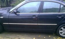 BMW 3 Series E46 Saloon Hatchback - CHROME SIDE DOOR COVERS TRIM STRIP Tuning 3M