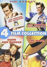 JIM CARREY COLLECTION DVD SET Ace Ventura 1 + 2 Dumb & Dumber Mask 4 MOVIES
