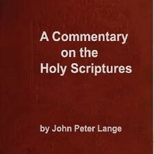 John Peter Lange Bible Commentary Old & New Testament+Life of Christ in 4 Vols