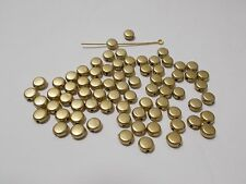 400pcs 6mm Flat Round Spacer Beads - Faux Pearl GOLD / GOLDEN TONE