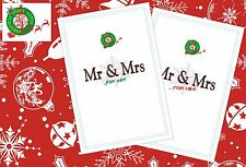 Christmas & New Years Eve Mr and Mrs  Party Game