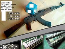 1:1 AK47 Gun Assault Rifle sniper rifle Papler Model Do It Yourself