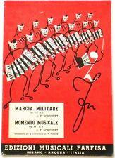 Musica Spartito - Marcia militare - Momento musicale - Schubert - Fisarmonica