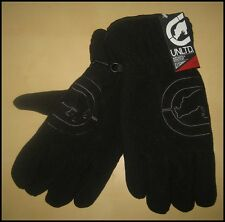 NWT ECKO UNLTD MEN WINTER FLEECE GLOVES SIZE S/M BLACK FREE US SHIPPING