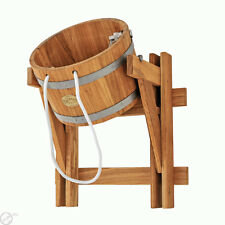 10L bucket FALLS OAK for Saunas, Russian bath, Extremely refreshing shower