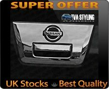 NISSAN NAVARA 2005-14 CHROME REAR TAILGATE HANDLE COVER TRIM SURROUND D40
