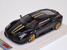 1/18 Looksmart MR Ferrari F430 Scuderia Nero DS Gold Stripe Gold Wheels Alcant
