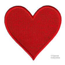 RED HEART PATCH embroidered iron-on applique ROMANTIC LOVE SYMBOL VALENTINE DAY
