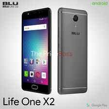 BLU Life One X2 16MP 64GB 4G LTE GSM Unlocked Android Phone Gray New