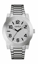 Caravelle New York Men's 43B142 Silver Tone Date Display Sport Watch