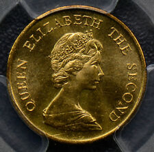 PC0108 Hong Kong 1982  10 Cents   PCGS SP64 rare proof like specimen from Norton