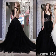 Country A line Wedding Dresses V Neck Backless Gothic Bridal Gown Spring Summer