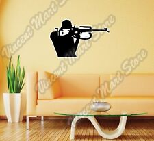 "Biathlon Cross-Country Ski Race Rifle Wall Sticker Room Interior Decor 25""20"""