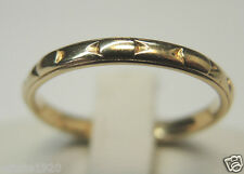 Antique Ladies Wedding Band Ring SIZE- 6 UK-L1/2 14KY Art Deco Vintage Estate
