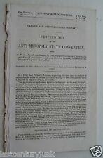 Camden & Amboy Railroad Co. Proceedings of The Anti-Monoply State Convention1868