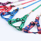 New Small Dog Pet Puppy Cat Adjustable Soft Nylon Harness With Lead Leash