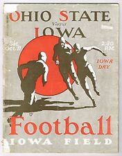 RARE! 1924 Iowa Hawkeyes vs Ohio State Football Program - 1st Meeting @ Iowa!