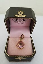 Juicy Couture Pink Crown Charm Gold tone in Box