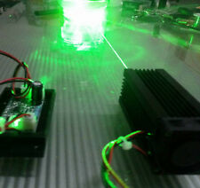 Focusable 100mw 532nm green laser module / continuous work / 5V with TTL