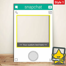 Snapchat Frame Custom Made Photo Booth (60 x 90 cm) Instagram Facebook
