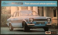 ORIGINAL FORD ESCORT RS 2000 MK 1 BROCHURE 1970s  AVO SVE mexico
